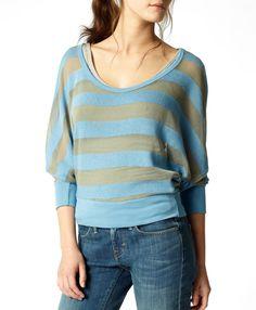 Levi's Palm Canyon Stripe Sweater - Sky - Tees & Tanks