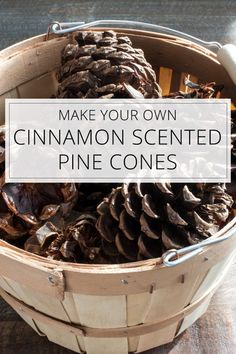 Make your own cinnamon scented pine cones diy pinecone flowers with stems Christmas Projects, Holiday Crafts, Christmas Crafts, Christmas Ideas, Fall Crafts, Holiday Ideas, Rustic Christmas, Christmas Ornaments, Diy Crafts