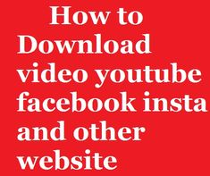 hello friend i show you how to download facebook youtube insta and other website video and audio song movie .. so must watch full video and enjoy this app .. thanku