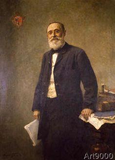 Hugo Vogel - Rudolf Virchow / Painting by Vogel