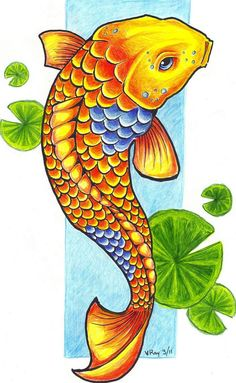 Draw A Koi Fish Koi Fish And Scale