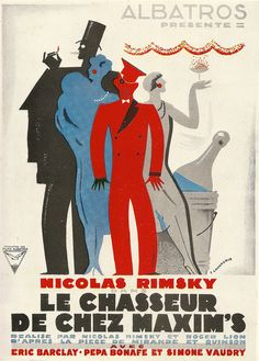 """""""Le Chasseur de Chez Maxim's"""" - Film poster (1928)"""