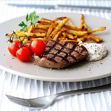 Weight Watchers Steak & Chips with Mustard Mayo - 11 Pro Points Slimming Recipes, Ww Recipes, Cooking Recipes, Healthy Recipes, Weight Watchers Salat, Weight Watchers Menu, Steak And Chips, Weigt Watchers, My Favorite Food