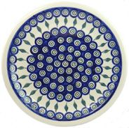 Large Plate 27 cm in 'peacock with leaves' pattern on Baltic Trader Online