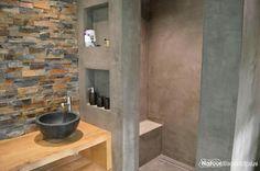 Loft Bathroom, Bathroom Toilets, Downstairs Bathroom, Small Bathroom, Concrete Shower, Concrete Bathroom, Modern Bathroom Design, Bathroom Interior Design, Large Shower