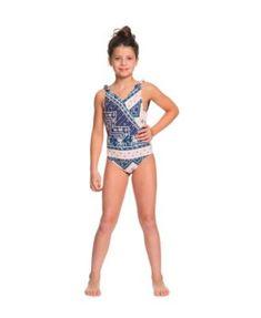 99075f9f0ff Roxy Girls Heart In The Waves 1 Piece - Blue 16 Girls One Piece Swimsuit