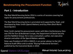 ©ALL RIGHTS RESERVED - Confidential Spend Matters UK/Europe Benchmarking the Procurement Function Part 1 - Introduction Th...