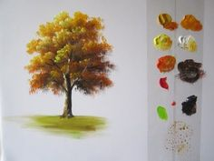 How to Paint a Tree in Acrylics lesson 1 - YouTube