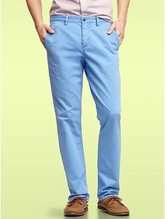 Gap 1969 denim-washed garment dye khakis (slim fit)  Imagine this with a pastel polo and boat shoes for a summer afternoon getting classily drunk.