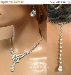 A personal favorite from my Etsy shop https://www.etsy.com/listing/161301392/bridal-jewelry-set-wedding-jewelry-back