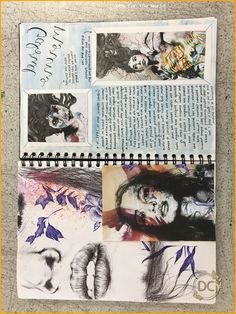 GCSE Art Sketchbook Art Artist Research page about Gabriel Moreno - Livvy Coombs