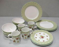 Royal Albert Old Country Roses Casual Plaid Set