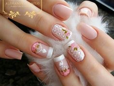 New Fabulous Free Winter Nail Art Ideas 2020 French Nails, Cute Nails, Pretty Nails, Hair And Nails, My Nails, Flower Nails, Beautiful Nail Art, Creative Nails, Nail Arts