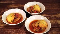 Chicken and Cornmeal Dumplings in Tomatoes Recipe | The Chew - ABC.com