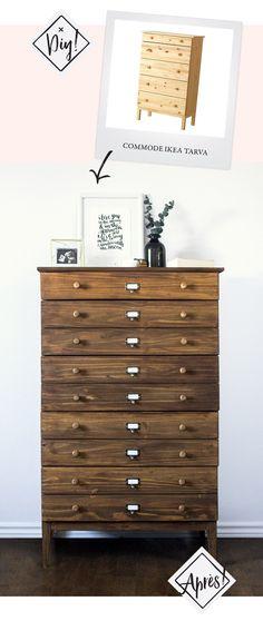 diy ikea tarva hack apothecary westelm anthropologie furniture dupetitdoux #diyfurnitureikea