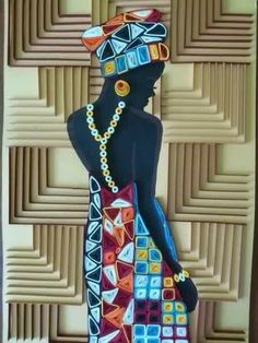 Africana lady x-stitch pattern
