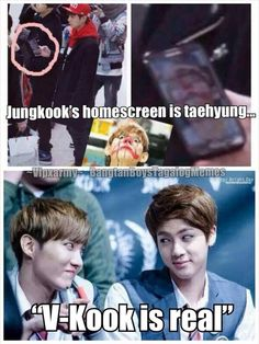 Lol them saying vkook is real and I'm just here being like j hope and jin is real