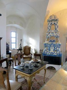 Zimmer der Reichsgräfin Cosel, indem sie auf der Burg Stolpen lebte.