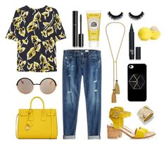 """""""Sicilian summer"""" by erenthae ❤ liked on Polyvore featuring Gianvito Rossi, Marni, AG Adriano Goldschmied, Yves Saint Laurent, Lanvin, Marc by Marc Jacobs, Burt's Bees, Chanel, Marina B and Eos"""