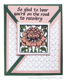 Slated Triangle Fold Card (Flower: Paper Parachute, Text: Touche)