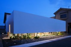 This cool Japanese house dubbed Green Edge was named, quite literally, for a garden row that adds a natural element to this urban house plan. Japanese architecture firm mA-style Architects... #japanesearchitecture