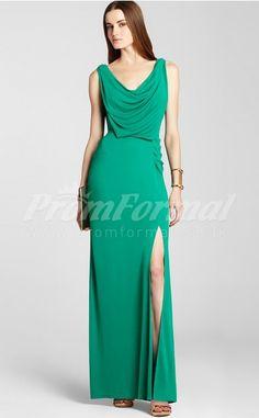 Jade Sheath Column Cowl Chiffon Floor-length Split Front Prom Dresses (PRJT04-0164) ee2b64bb4