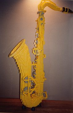 LEGO sax. Wow. How...? Somebody has wayyyyyy too much time on their hands...