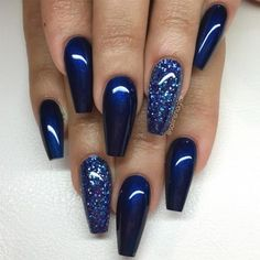 Here is Navy Blue Nail Designs Collection for you. Navy Blue Nail Designs elegant navy blue nail colors and designs for a supe. Fancy Nails, Trendy Nails, Classy Nails, Simple Nails, Simple Elegant Nails, Navy Blue Nails, Blue Gel Nails, Burgundy Nails, Nail Art Blue