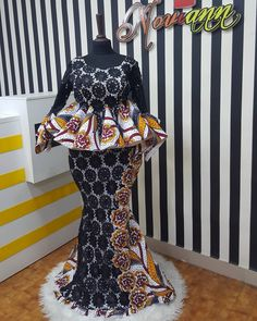 check out new lace and ankara native styles for wedding African Fashion Ankara, Latest African Fashion Dresses, African Print Fashion, Africa Fashion, African Dresses For Kids, African Lace Dresses, African Clothing For Men, African Attire, African Wear