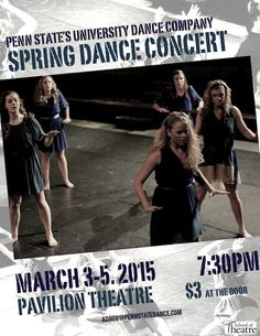 The University Dance Company's Spring Dance Concert, March 3-5, at the Pavilion Theatre.