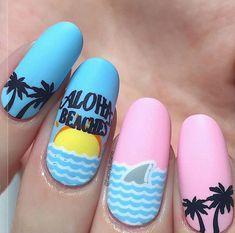 Sea Nails, Nail Swag, Nail Art, Fashion, Moda, Fashion Styles, Nail Arts, Fashion Illustrations, Nail Art Designs