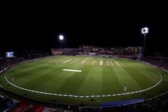 A resplendent Kia Oval in all its floodlit glory at #cricketforheroes