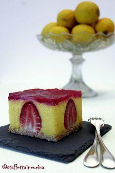 Cheese cake fragole e lemon curd Cheesecake, Lemon Curd, Oreo, Panna Cotta, Sweets, Eat, Cooking, Ethnic Recipes, Desserts