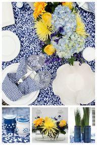 Blue tablescape... T