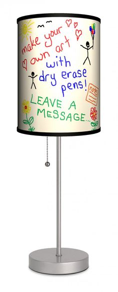 Dry Erase Lamp In A Box available from Bourbon & Boots// oh the possibilities!!!