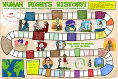 Photo of Human Rights Time Line for fans of Human Rights. A game you can play to help teach kids about human rights Human Rights Topics, History Of Human Rights, Human Rights Day, Children's Rights And Responsibilities, Esperanza Rising, Line Game, Esl Resources, Right Time, Help Teaching