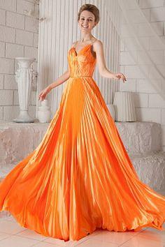 D'Orange Drapé Robe De Célébrité Satin Élastique rs1651 - Tissu: Satin Élastique; Encolure: V-Cou Silhouette: Une Ligne-; Fermeture: Fermeture À Glissière - Price: 173.9900 - Link: http://www.robesoirees.com/d-orange-drape-robe-de-celebrite-satin-elastiqu
