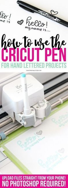 Cricut Projects - Hand-Lettering Using Cricut Pens - Cricut Ideas, Tips, Tricks. - Learn how to create Cricut Pen Hand Lettering Projects with this super quick and easy tutorial. Cricut Cuttlebug, Cricut Cards, Cricut Fonts, Diy Craft Projects, Diy Crafts, Cricut Project Ideas, Craft Ideas, Cricut Vinyl Projects, Homemade Crafts