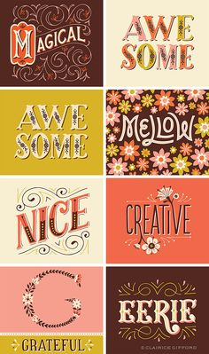 Illustrative Lettering on Behance