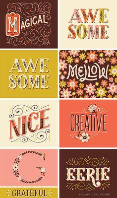 Illustrative Lettering on Behance