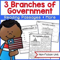 This exciting and engaging social studies unit has all the materials you'll need to teach the 3 Branches of U.S. Government!