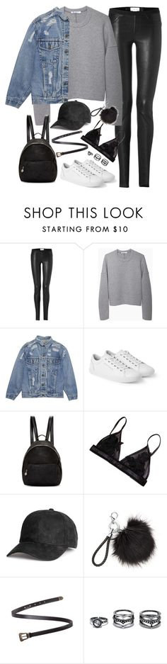 """""""Untitled#4592"""" by fashionnfacts ❤ liked on Polyvore featuring Helmut Lang, T By Alexander Wang, Dolce&Gabbana, STELLA McCARTNEY, Yves Saint Laurent and LULUS"""