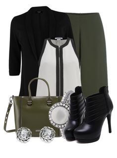 """""""Black Blazer (1)"""" by queenrachietemplateaddict ❤ liked on Polyvore featuring Cameo, Helmut Lang, Charles Jourdan and Effy Jewelry"""