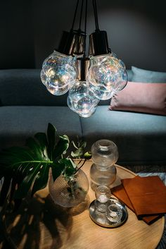 Glasblase Pendel by Laura Luisa Grebner. Pendant Design, Mason Jar Lamp, Bubbles, Environment, Rainbow, Comfy, Living Room, Future, Elegant