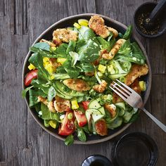 Salade met schnitzelreepjes – Food And Drink Rice Recipes For Dinner, Easy Meals, Good Food, Food And Drink, Lunch, Stuffed Peppers, Healthy Recipes, Diabetes, Ale
