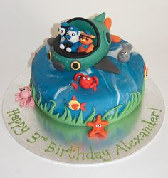 I'm not even finished with the Thomas cake and Sam wants to look at pictures of Octonauts cakes I can make for him. :)