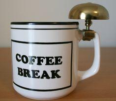 Coffee Break Mug with Brass Bell