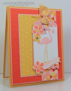 Flamingo Lingo Tickled Pink Card – Stampin' Up!