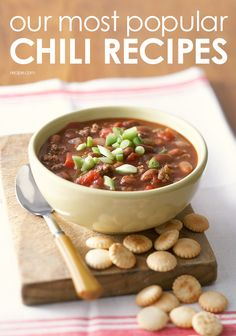 Hearty bowls of chili are sure to defeat your winter chills.