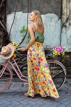 Women Hanging Belt Printing Holiday Two Piece High Waist Dress Floral Maxi, Floral Dresses, Maxi Dresses, Maxi Skirts, Bohemia Dress, Jumpsuit Dress, Shirt Dress, Cami Tops, Dress First